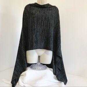 Logo Sweater Knit Poncho XL/1X Space Dye Shawl